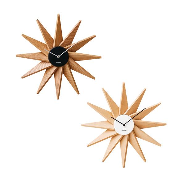 掛け時計 星 大型 ミッドセンチュリー スイープムーブメント フェルマー (IF-CL3023) *ホワイト次回9月中旬入荷予定、ブラック完売