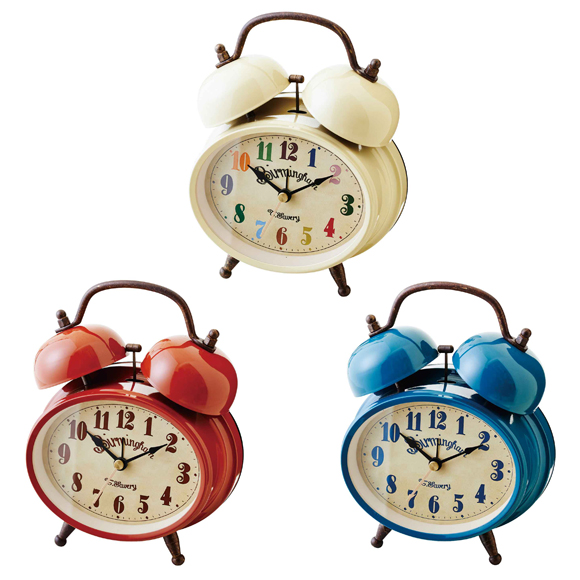 Alarm Clock Quiet Bell Alarm Bedroom Table Clock North Europe スヌーズグライツ  (IF CL9375)