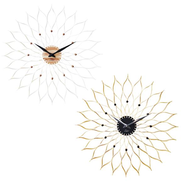 掛け時計 大型 50's ダリア リビング 50cm ステップムーブメント アナログ ロビー [ ルファール ] (IF-CL9903)*ナチュラルNAメーカー欠品中
