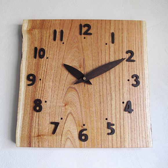 山の時計 栴檀(せんだん)の置き時計 掛置兼用 天然木 ハンドメイド 日本製