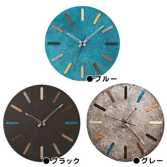 掛け時計 メタル 鋳物 日本製 インダストリアル アースカラー colorfultimes (MF-COLOR)