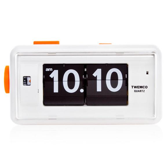 TWEMCO トゥエンコ 目覚まし時計 置き時計 パタパタ時計 ロータリークロック (OP-AL-30)