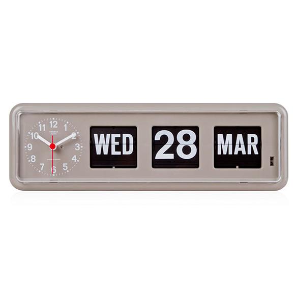 TWEMCO トゥエンコ 掛け時計 パタパタ時計 カレンダー表示 ロータリークロック 掛置兼用 (OP-BQ-38)