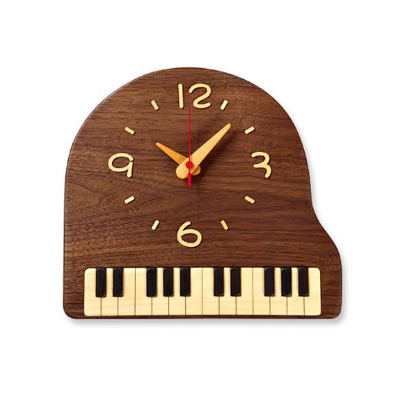掛け時計 天然木 木製 北海道 「ピアノ」 (PK-PK-2)