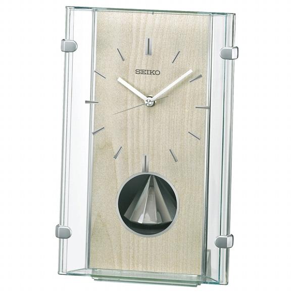 セイコー(SEIKO) 置き時計 電波時計 BY240M アナログ スイープ おしゃれ