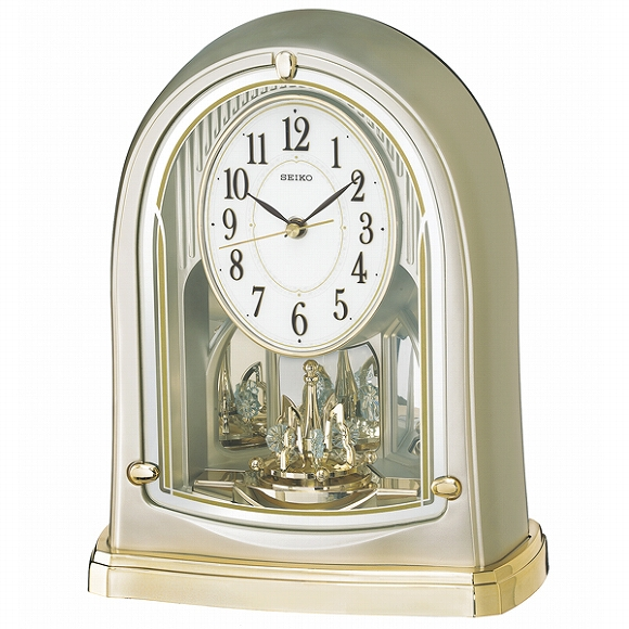 セイコー(SEIKO) 置き時計 電波時計 BY241G アナログ スイープ おしゃれ