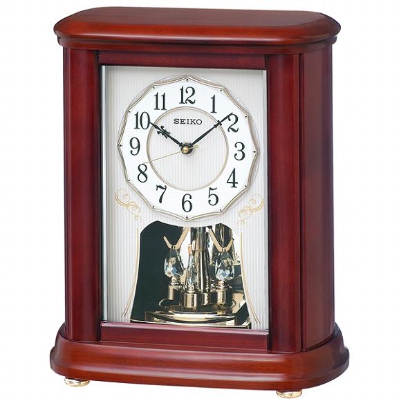 セイコー(SEIKO) 置き時計 電波時計 BY242B アナログ スイープ おしゃれ