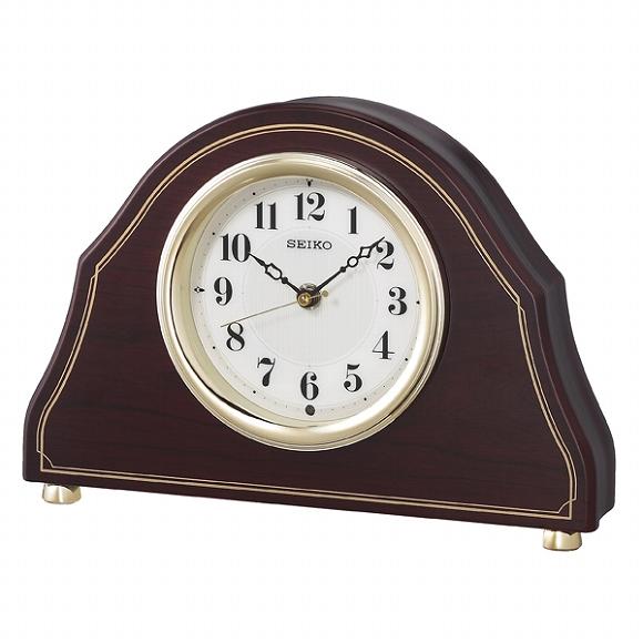 セイコー(SEIKO) 置き時計 電波時計 BZ239B アナログ スイープ おしゃれ