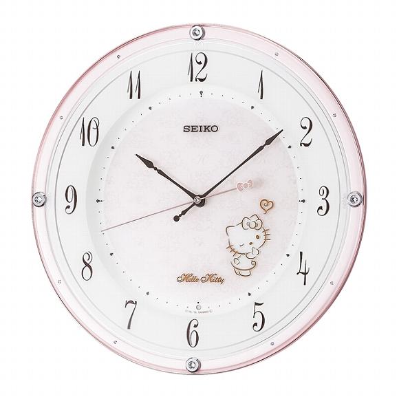 セイコー(SEIKO) キャラクター時計 ハローキティー 掛け時計 電波時計 CS501P アナログ スイープ おしゃれ