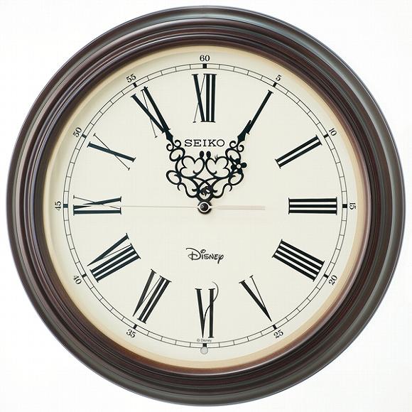 セイコー(SEIKO) キャラクター時計 掛け時計 ディズニー 壁掛け 電波時計 FS507B 大人ディズニー ミッキー ミニー ミッキー&フレンズ アナログ スイープ おしゃれ