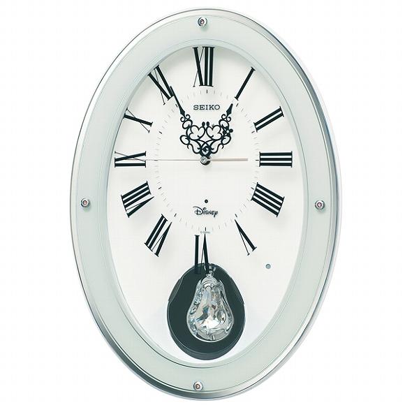 セイコー(SEIKO) キャラクター時計 掛け時計 ディズニー 壁掛け 電波時計 FS508W 大人ディズニー ミッキー ミニー ミッキー&フレンズ メロディ アナログ スイープ おしゃれ