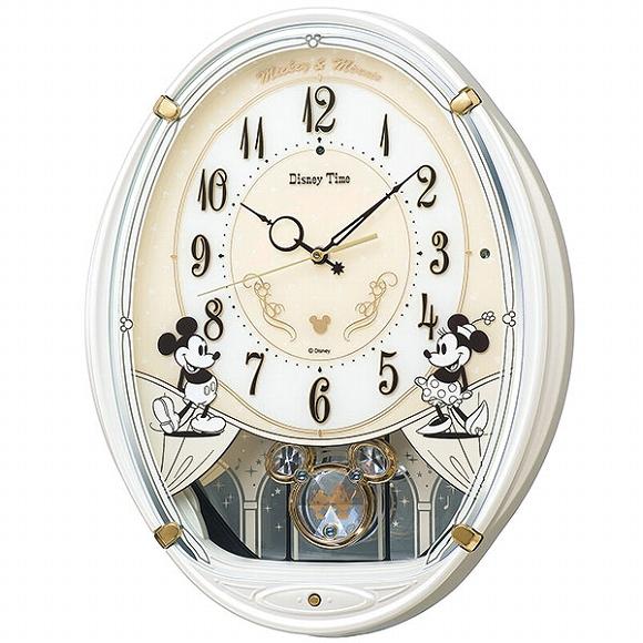 セイコー(SEIKO) キャラクター時計 掛け時計 ディズニー 壁掛け 電波時計 FW579W アナログ ディズニー ミッキー ミニー ミッキー&フレンズ メロディ スイープ