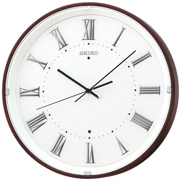セイコー(SEIKO) 掛け時計 壁掛け 電波時計 KX206B アナログ ステップ ナチュラルスタイル おしゃれ
