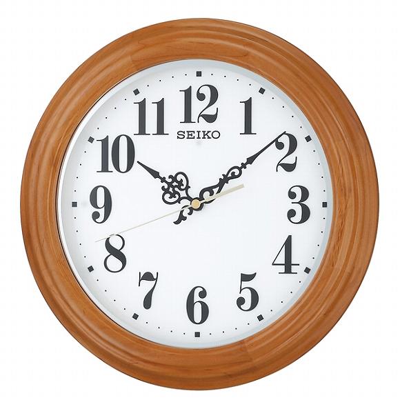 セイコー(SEIKO) 掛け時計 壁掛け 電波時計 KX228A アナログ スイープ 自動点灯ライト 白色LED おしゃれ