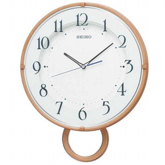 セイコー(SEIKO) 振り子時計 壁掛け 電波時計 PH206A アナログ ステップ 掛け時計 おしゃれ