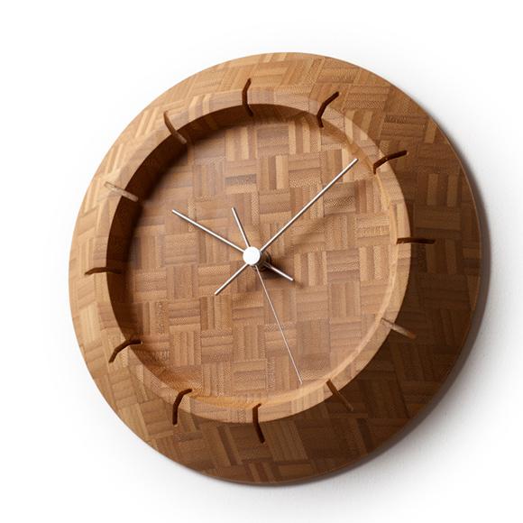 Lemnos レムノス 掛け時計 アナログ 木製 竹 国産 タケクロック FE17-09 (TL-FE17-09)