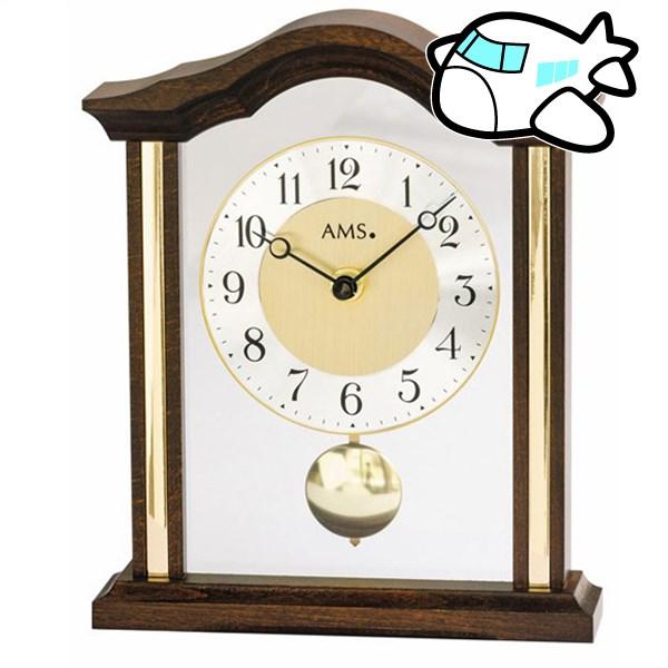 【ポイントアップ中&割引クーポン配布中】AMS 置き時計 振り子時計 アナログ ドイツ製 ダークブラウン AMS1174-1 納期1ヶ月程度 (YM-AMS1174-1)