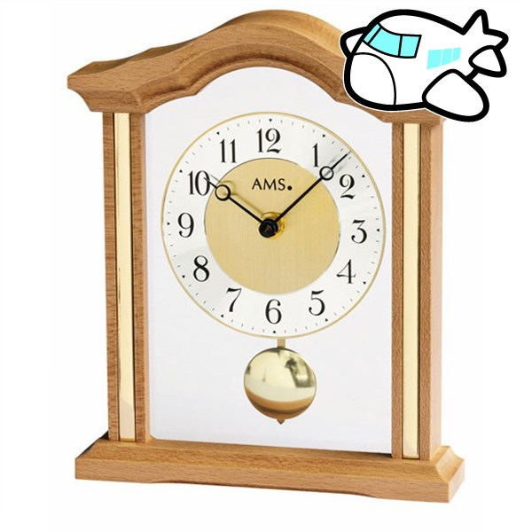 AMS 置き時計 振り子時計 アナログ ドイツ製 ライトブラウン AMS1174-18 納期1ヶ月程度 (YM-AMS1174-18)