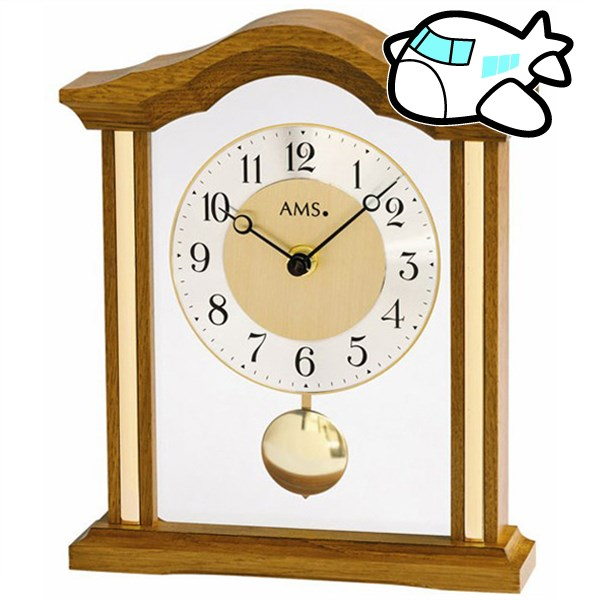 AMS 置き時計 振り子時計 アナログ ドイツ製 ブラウン AMS1174-4 納期1ヶ月程度 (YM-AMS1174-4)