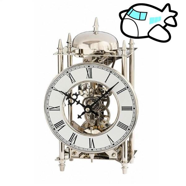 AMS 置き時計 機械式 アナログ ドイツ製 シルバー AMS1184 納期1ヶ月程度 (YM-AMS1184)