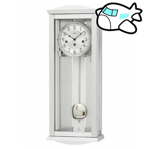 AMS 掛け時計 振り子時計 アナログ 機械式 シルバー ドイツ製 AMS2749 納期1ヶ月程度 (YM-AMS2749)