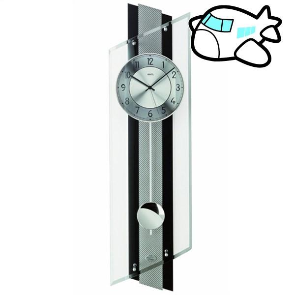 AMS 掛け時計 振り子時計 アナログ シルバー ドイツ製 AMS5219 納期1ヶ月程度 (YM-AMS5219)
