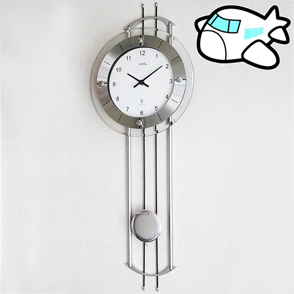 AMS社 振り子時計 ドイツ製 アナログ シルバー リビング ギフト 記念品 AMS5248 30%OFF 納期1ヶ月程度 (YM-AMS5248)