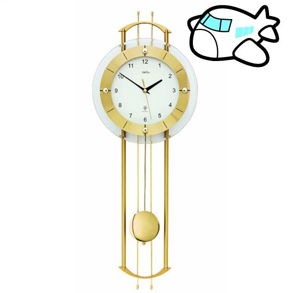 AMS 掛け時計 振り子時計 アナログ ゴールド ドイツ製 AMS5257 納期1ヶ月程度 (YM-AMS5257)