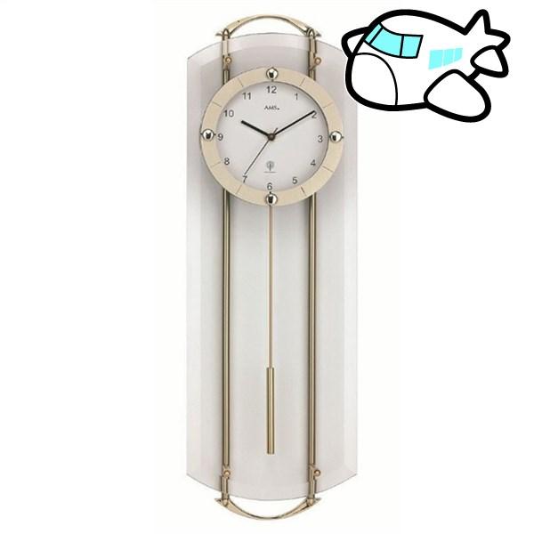 AMS 掛け時計 振り子時計 アナログ シルバー ドイツ製 AMS5265 納期1ヶ月程度 (YM-AMS5265)