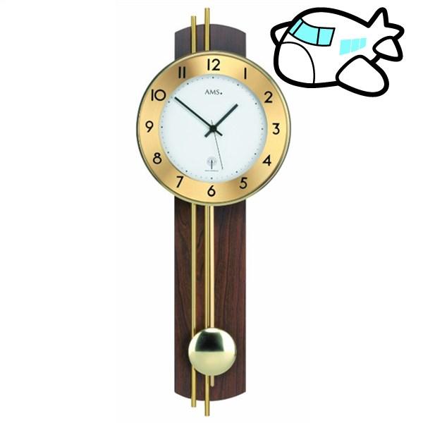 【ポイントアップ中&割引クーポン配布中】AMS 掛け時計 振り子時計 アナログ ドイツ製 AM5266-1 納期1ヶ月程度 (YM-AMS5266-1)