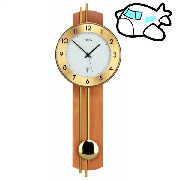 AMS 掛け時計 振り子時計 アナログ ドイツ製 AM5266-18 納期1ヶ月程度 (YM-AMS5266-18)