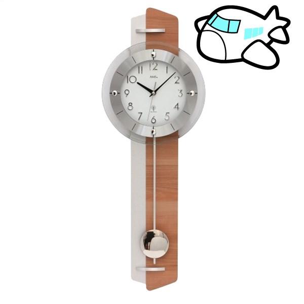 AMS 掛け時計 振り子時計 アナログ シルバー ドイツ製 AMS5271 納期1ヶ月程度 (YM-AMS5271)