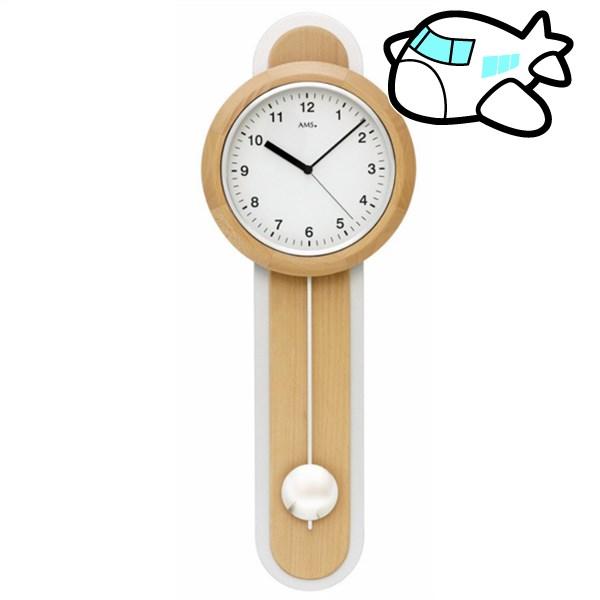 AMS 掛け時計 振り子時計 木製 アナログ ドイツ製 AMS5275-18 納期1ヶ月程度 (YM-AMS5275-18)