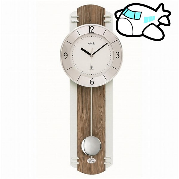 AMS 掛け時計 振り子時計 アナログ ドイツ製 AMS5292 納期1ヶ月程度 (YM-AMS5292)