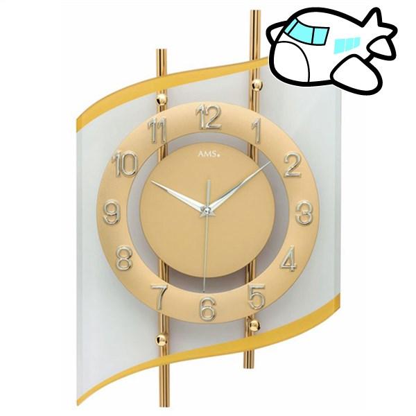 【ポイントアップ中&割引クーポン配布中】AMS 掛け時計 アナログ ゴールド ドイツ製 AMS5505 納期1ヶ月程度 (YM-AMS5505)