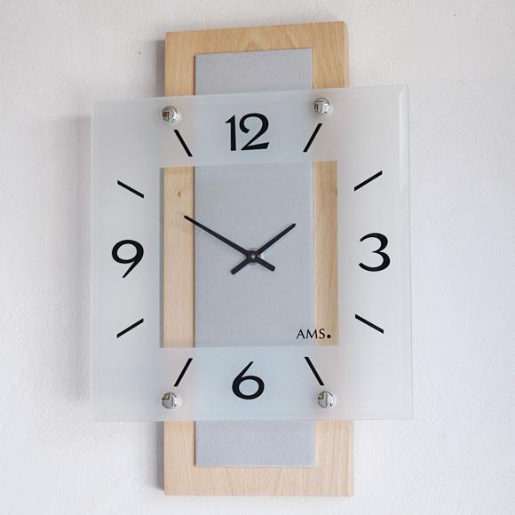 【ポイントアップ中&割引クーポン配布中】AMS 掛け時計 アナログ ドイツ製 AMS5507J 国内在庫 即納 (YM-AMS5507J)