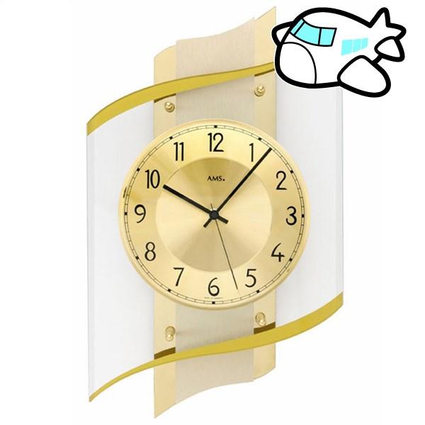 AMS 掛け時計 アナログ ドイツ製 ゴールド AMS5515 納期1ヶ月程度 (YM-AMS5515)