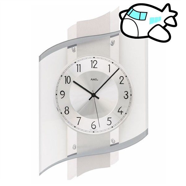 AMS 掛け時計 アナログ ドイツ製 AMS5516 納期1ヶ月程度 (YM-AMS5516)