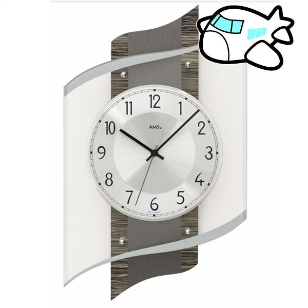 AMS 掛け時計 アナログ ドイツ製 ダークブラウン AMS5519 納期1ヶ月程度 (YM-AMS5519)