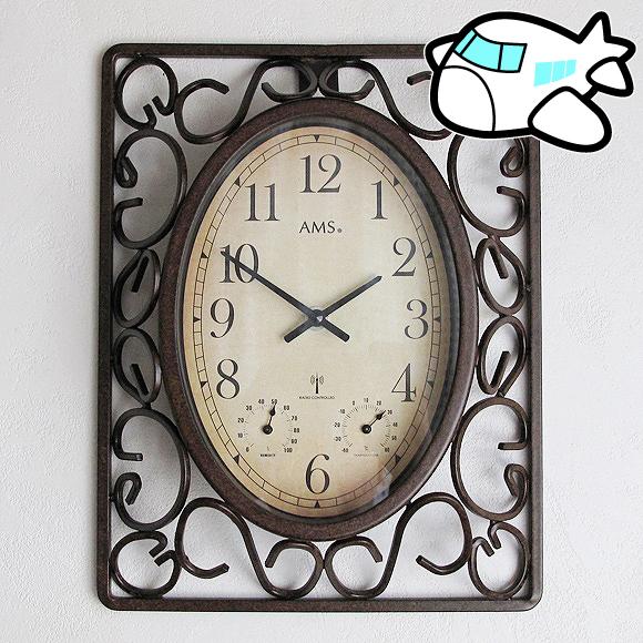 AMS社 掛け時計 ドイツ製 アナログ リビング ギフト 記念品 アイアン AMS5976 30%OFF 納期1ヶ月程度 (YM-AMS5976)
