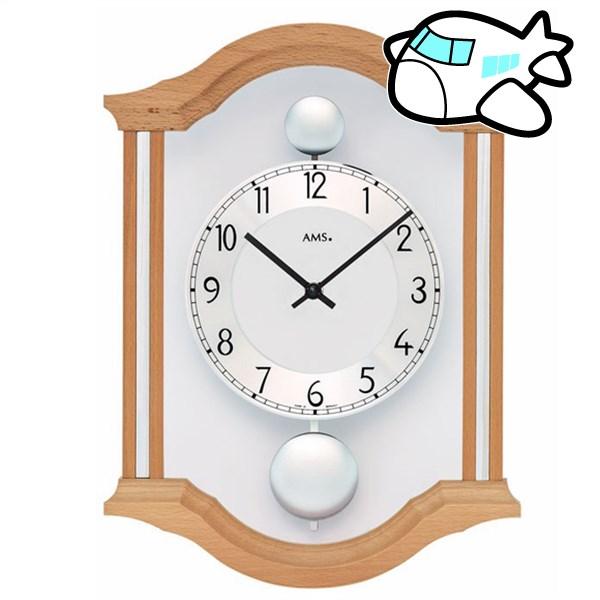 AMS 掛け時計 アナログ ドイツ製 AMS7447-18 納期1ヶ月程度 (YM-AMS7447-18)
