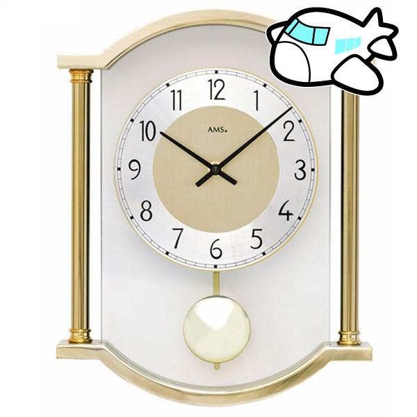 AMS 掛け時計 振り子時計 アナログ ゴールド ドイツ製 AMS7449 納期1ヶ月程度 (YM-AMS7449)