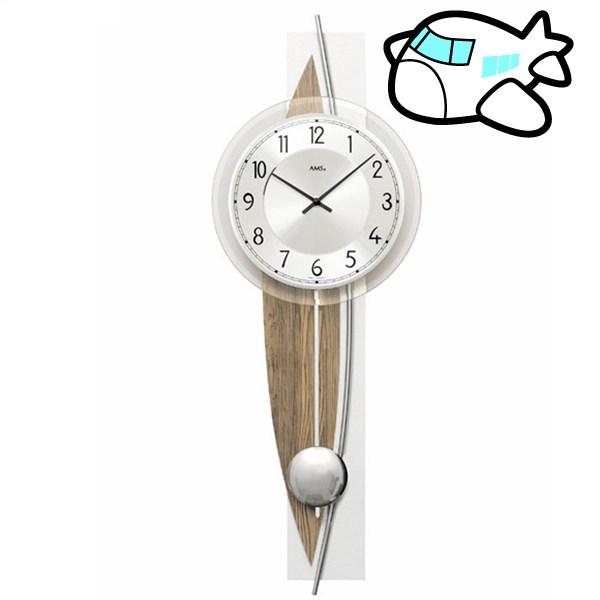 AMS 掛け時計 振り子時計 アナログ ブラウン ドイツ製 AMS7452 納期1ヶ月程度 (YM-AMS7452)