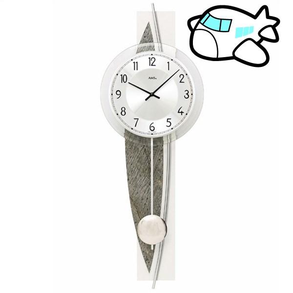 AMS 掛け時計 振り子時計 アナログ ダークブラウン ドイツ製 AMS7456 納期1ヶ月程度 (YM-AMS7456)