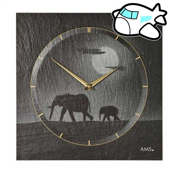 AMS 掛け時計 アナログ ドイツ製 AM9524 納期1ヶ月程度 (YM-AMS9524)