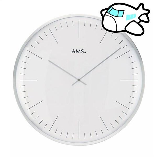 AMS 掛け時計 アナログ ドイツ製 シルバー AMS9540 納期1ヶ月程度 (YM-AMS9540)