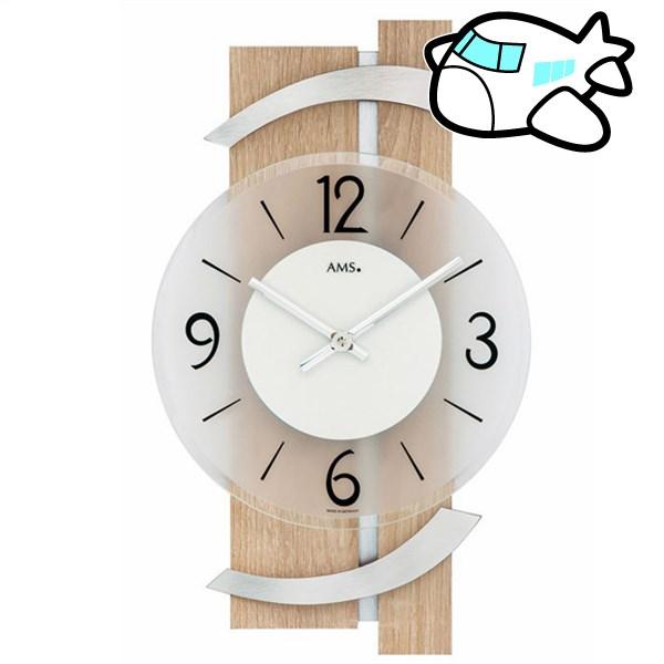 AMS 掛け時計 アナログ シルバー ドイツ製 AMS9546 納期1ヶ月程度 (YM-AMS9546)