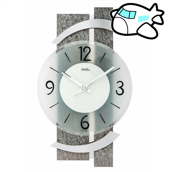 AMS 掛け時計 アナログ ドイツ製 AMS9548 納期1ヶ月程度 (YM-AMS9548)