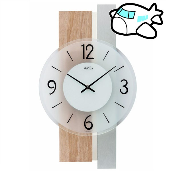 AMS 掛け時計 アナログ ドイツ製 AMS9554 納期1ヶ月程度 (YM-AMS9554)