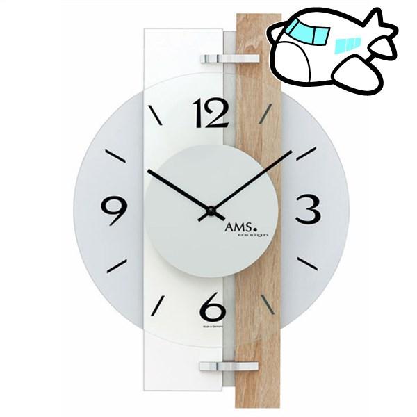 AMS 掛け時計 アナログ ドイツ製 AMS9557 納期1ヶ月程度 (YM-AMS9557)